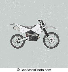 Enduro bike, motocross