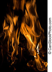 Fire  - A nice fire in a fire place