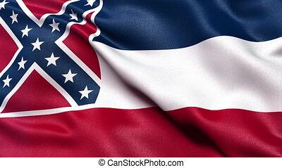 Mississippi state flag loop