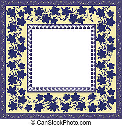 Stylized floral frame