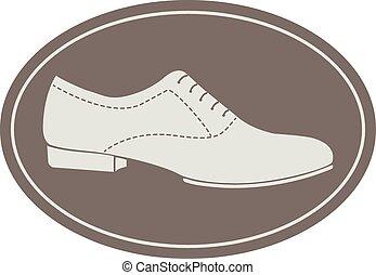 Vintage men shoe label - Logotype elements for shoemaker,...