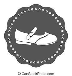 Vintage kids shoe label - Logotype elements for shoemaker,...