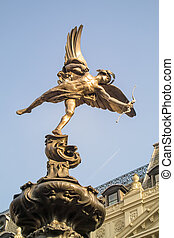 Statue of Eros at Picadilly Circus, London