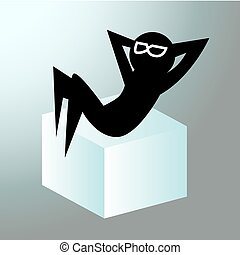 Chilling Out Man - An image of a silhouette figure who is...