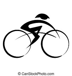 Abstract Bicyclist Icon
