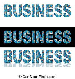 Low Poly Business Text Banner - An image of a banner set for...