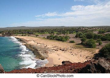Molokai Hawaii Coast - Coast of western Molokai Hawaii with...