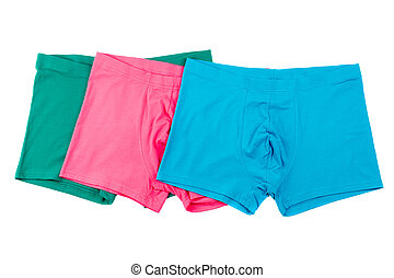 Boxer briefs isolated on a white - Colourful men's Boxer...