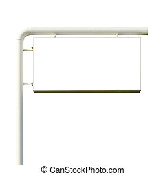 blank billboard for advertisement on white background