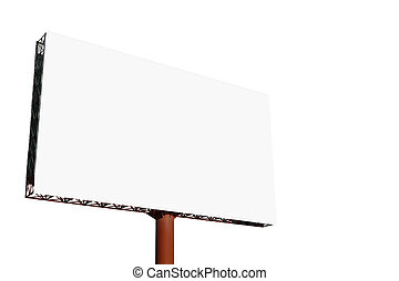 tabellone, bianco, annuncio pubblicitario, fondo, vuoto
