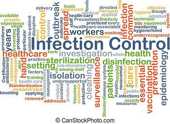 infección, control, Plano de fondo, concepto,