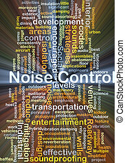 Noise control background concept glowing - Background...