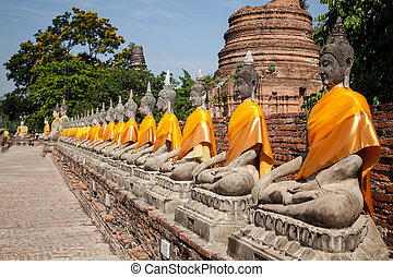 Old temple Historic Town of Thailand - Old temple Historic...