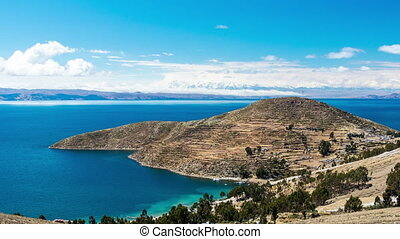 Lake Titicaca Time Lapse - Time lapse view of the Isla del...