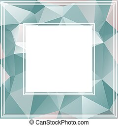blue gray border - Polygonal abstract background with blue...