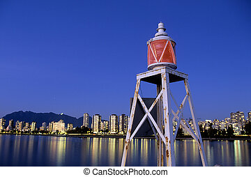 Lighthouse- Vancouver, Canada - Light beacon at Hadden Park...