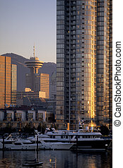 Harbor Center Tower- Vancouver, Canada - Downtown buildings...