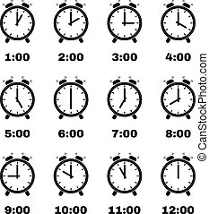 The Alarm Clock icon alarm clock symbol Set - The Alarm...