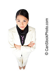 Young Asian businesswoman with folded arms
