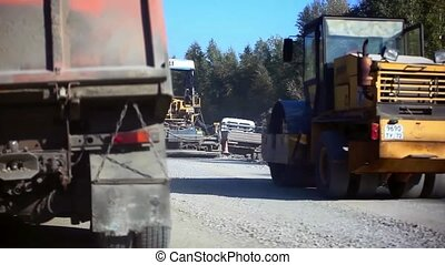 during construction road works
