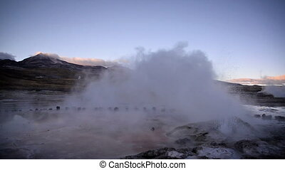Steaming Geyser in Chile - Steaming geyser in early morning...