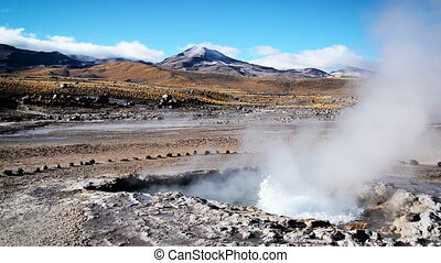 Fast Moving Geyser - Fast moving geyser in the El Tatio...