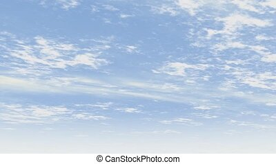 Simple blue sky with clouds - Simple animated blue sky with...
