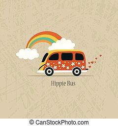 Hippie van illustration