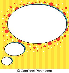 Comic style yellow talk bubble background illustration...