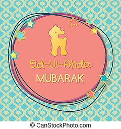 Muslim community festival of sacrifice Eid-Ul-Adha greeting...