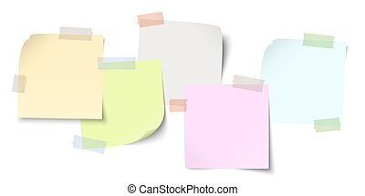 sticky papers with adhesive tape