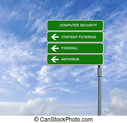 road sign to computer security