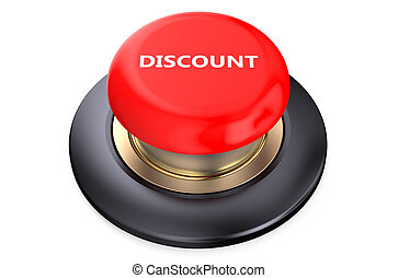 Discount Red button isolated on white background