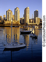 Sunset- Vancouver skyscrapers, Canada - Skyscrapers rising...