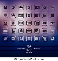 Set of shop icons - shop modern icons for mobile interface...