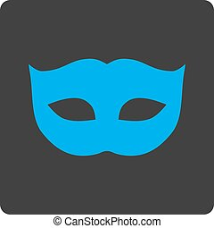 Privacy Mask flat blue and gray colors rounded button