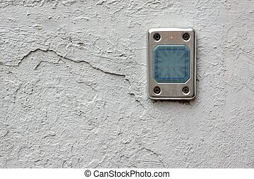 Access Control Card Reader On The Wall Close-up