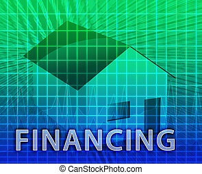 House Financing - House financing digital collage...