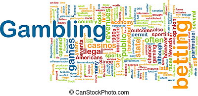 Gambling word cloud - Word cloud concept illustration of...