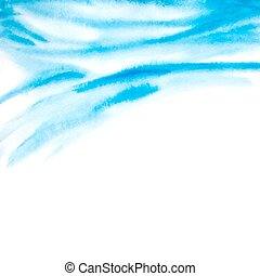 abstract background with watercolor waves. vector illustration