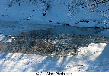 winter frost. winter-tide, winter-time. a deposit of small...