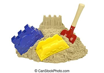 Kinetic Sand For Children Creativity, Bucket, Molds And...