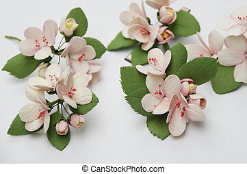 flowers from foam - Photo of a handmade flowers from foam