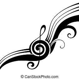 Music notes - Music element