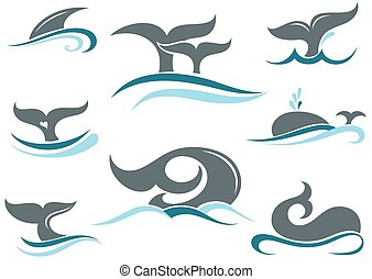 Whale tail icons - Sea animal