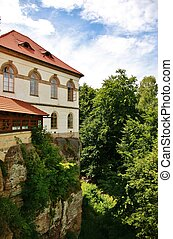 Castle Valdstein in Bohemian Paradise region, Czech...