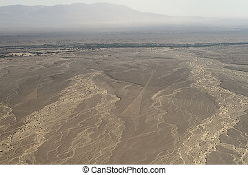 nasca-lines - drawing in the Nazca Desert, view from...