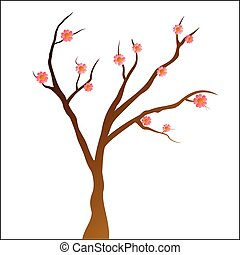 Simply Tree with pink flowers