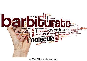 barbiturate, palavra, nuvem