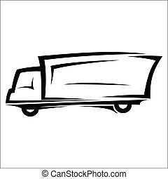 Delivery truck sketch